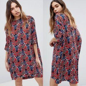 NWOT ASOS MONKI Zebra T-shirt Dress our of stock